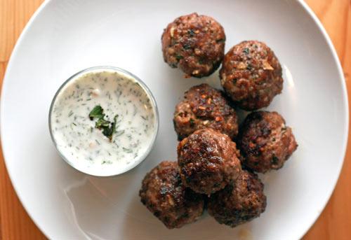 Köfte Meatballs with Haydari Recipe