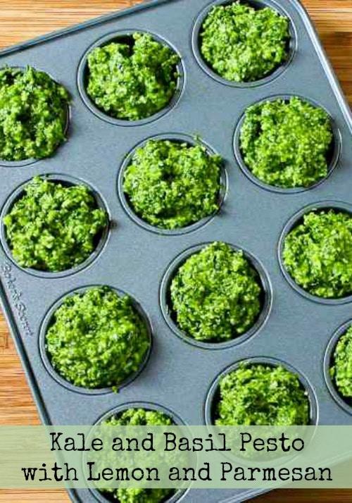 Kale and Basil Pesto with Lemon and Parmesan