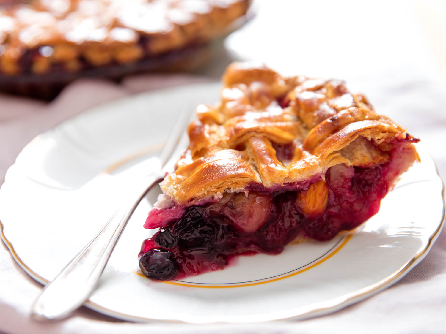 Late-Summer Mixed-Fruit Pie Recipe