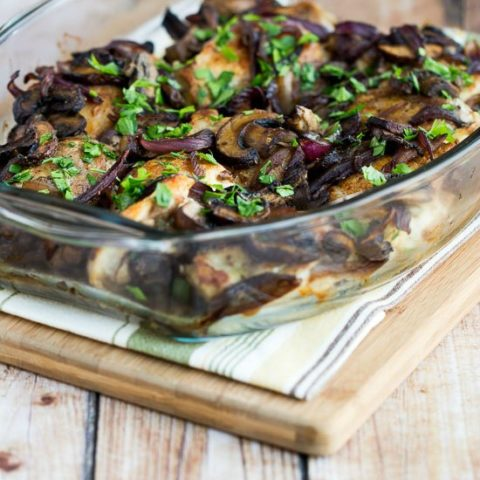 Low-Carb Roasted Chicken Thighs with Mushrooms, Onions, and Rosemary