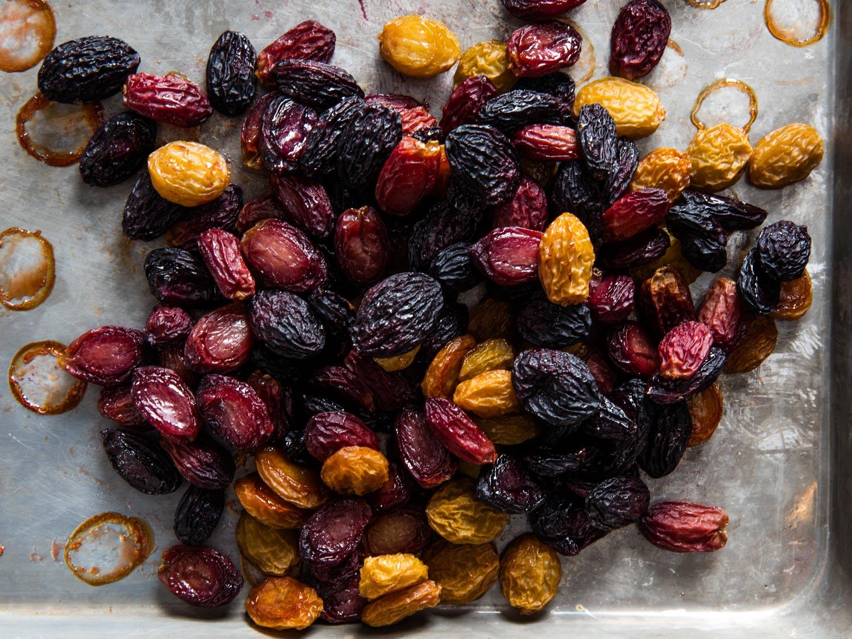 Oven-Dried Grapes  Recipe