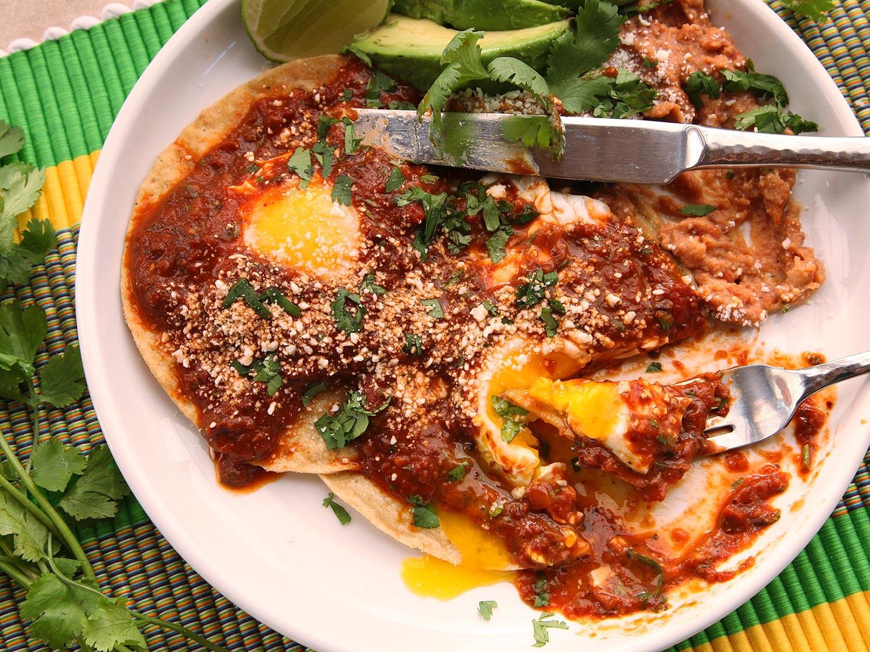 Quick and Easy Huevos Rancheros With Tomato-Chili Salsa Recipe
