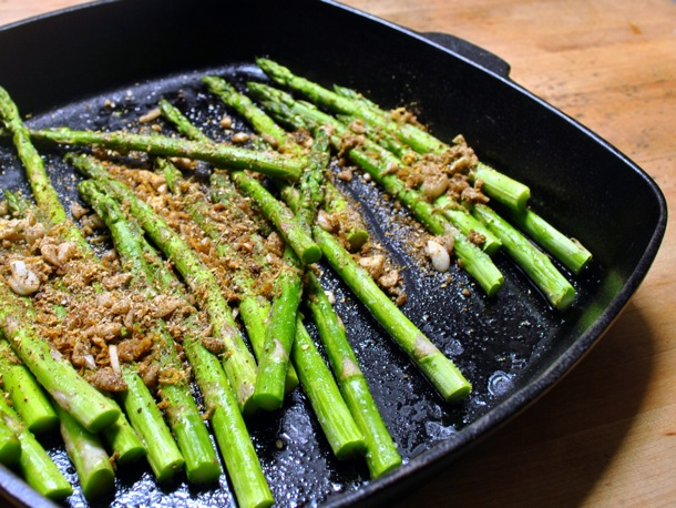 Roast Asparagus with Long Pepper Gremolata Recipe