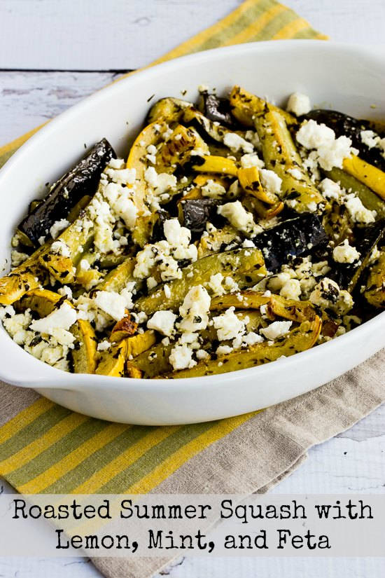 Roasted Summer Squash with Lemon, Mint, and Feta