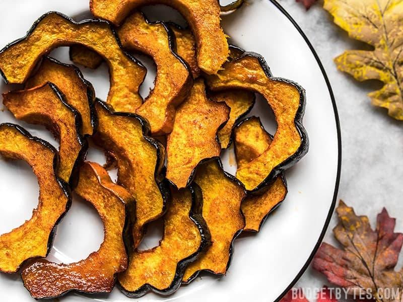 Smoky Maple Roasted Acorn Squash