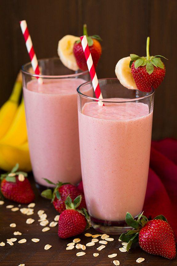 Strawberry Banana Oat Smoothie