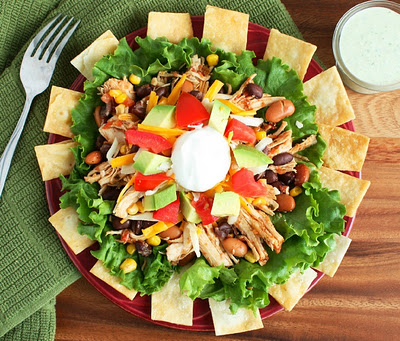 Taco Salad and Cilantro Lime Ranch