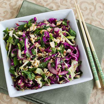 Thai-Style Spicy Low-Carb Cabbage Slaw with Mint and Cilantro