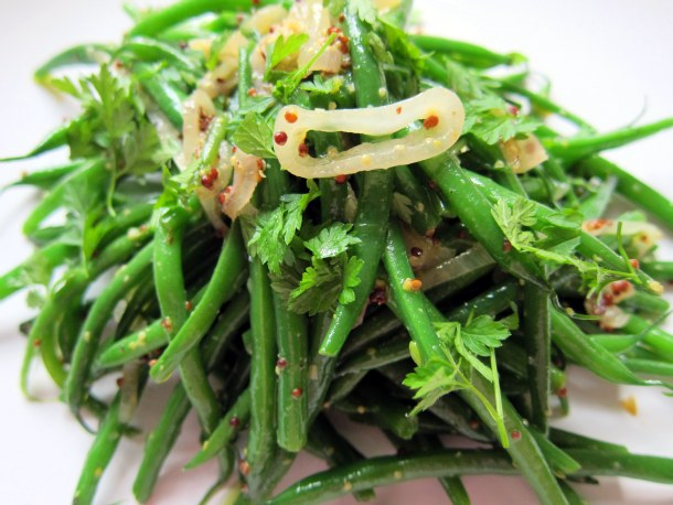 The Secret Ingredient : Warm Green Bean Salad with Shallots and Mustard Recipe
