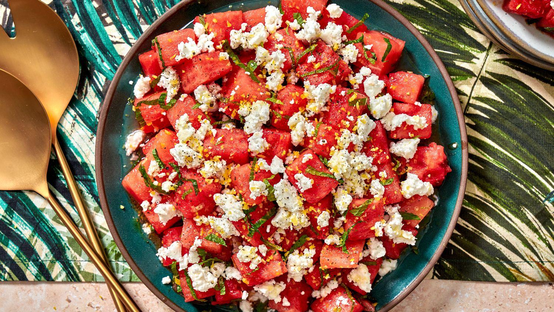 Watermelon, Feta, and Mint Salad Recipe
