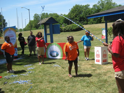 The Arby's Foundation provided games for the kids!