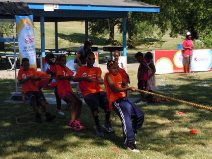 The Arby's Foundation provided games for the kids.