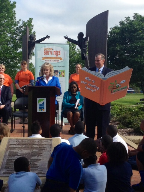 Superintendent, Glenda Ritz and Mayor Ballard