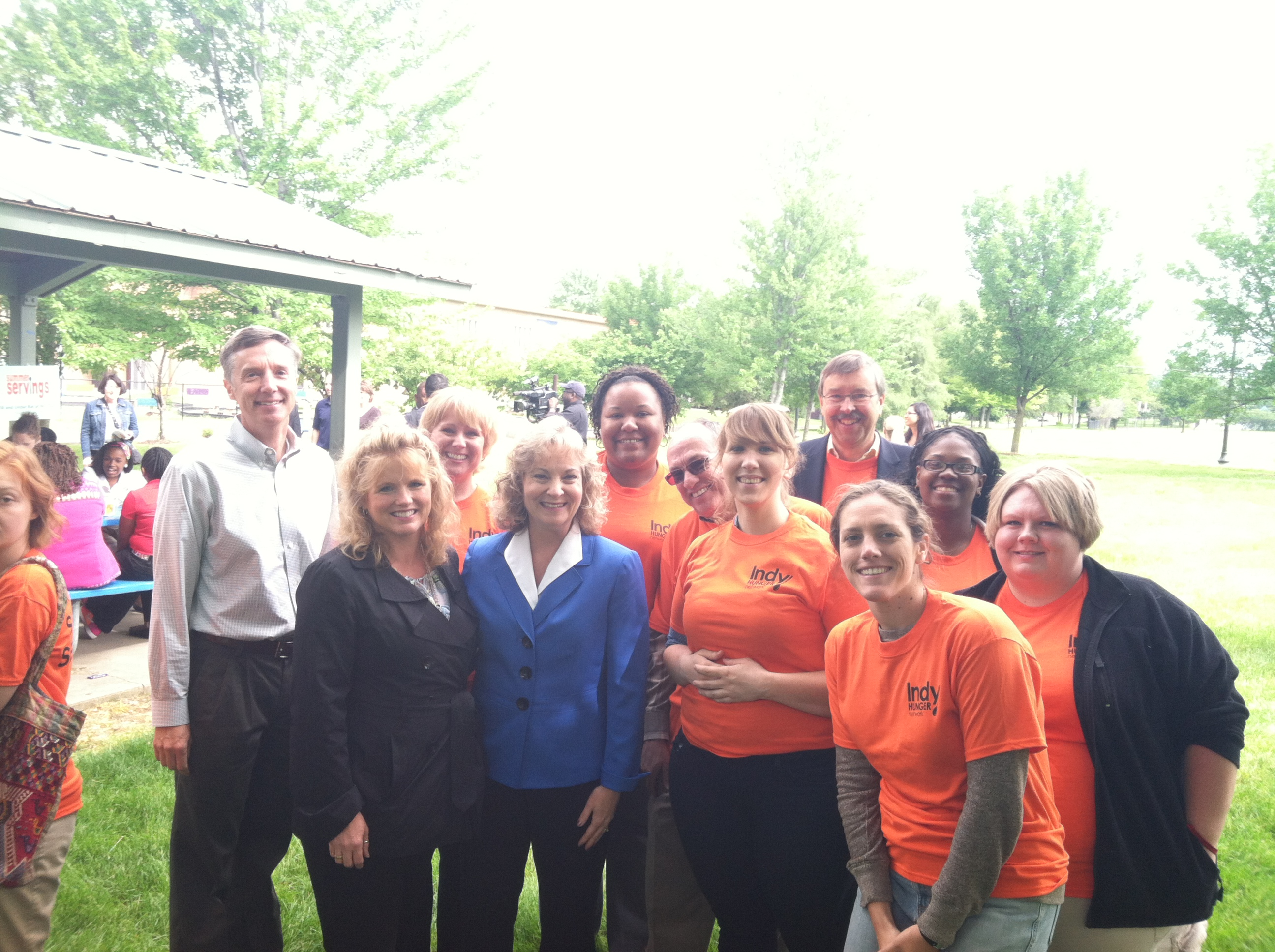 Summer Servings Volunteers with Glenda Ritz, Indiana Superintendent of Public Instruction