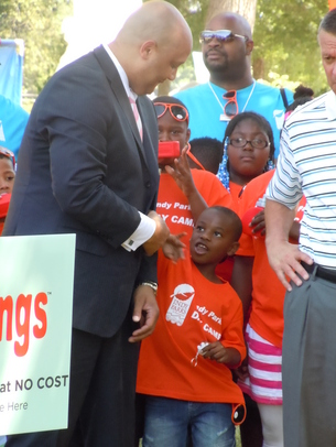 Congressman Andre Carson and Superintendent of Public Instruction Dr. Tony Bennett