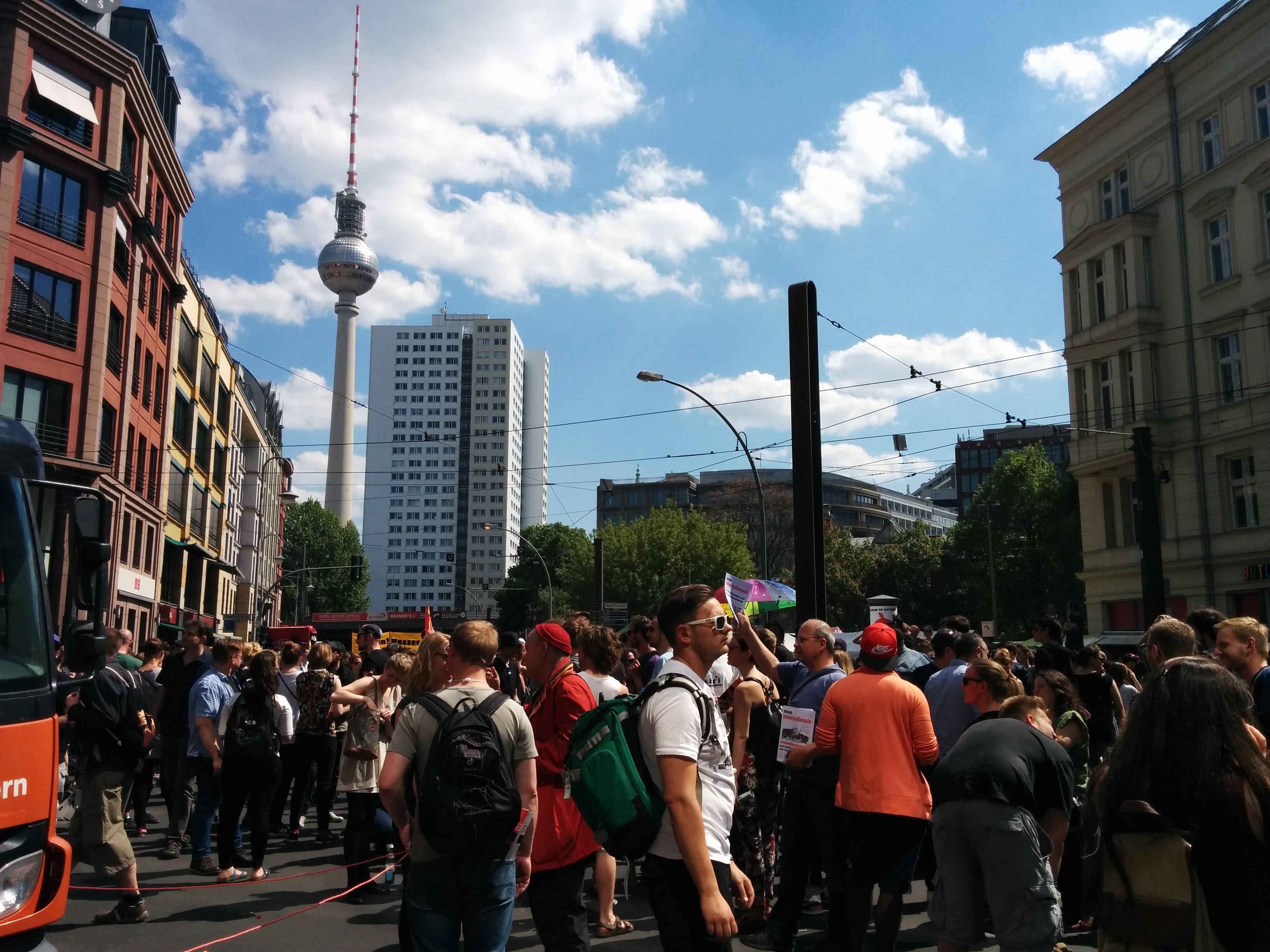 Anti-Nazi, pro-refugee demonstration