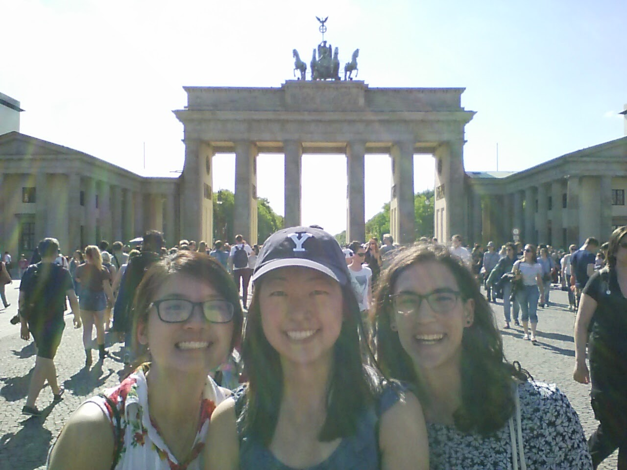 In front of the Brandenburg Gate