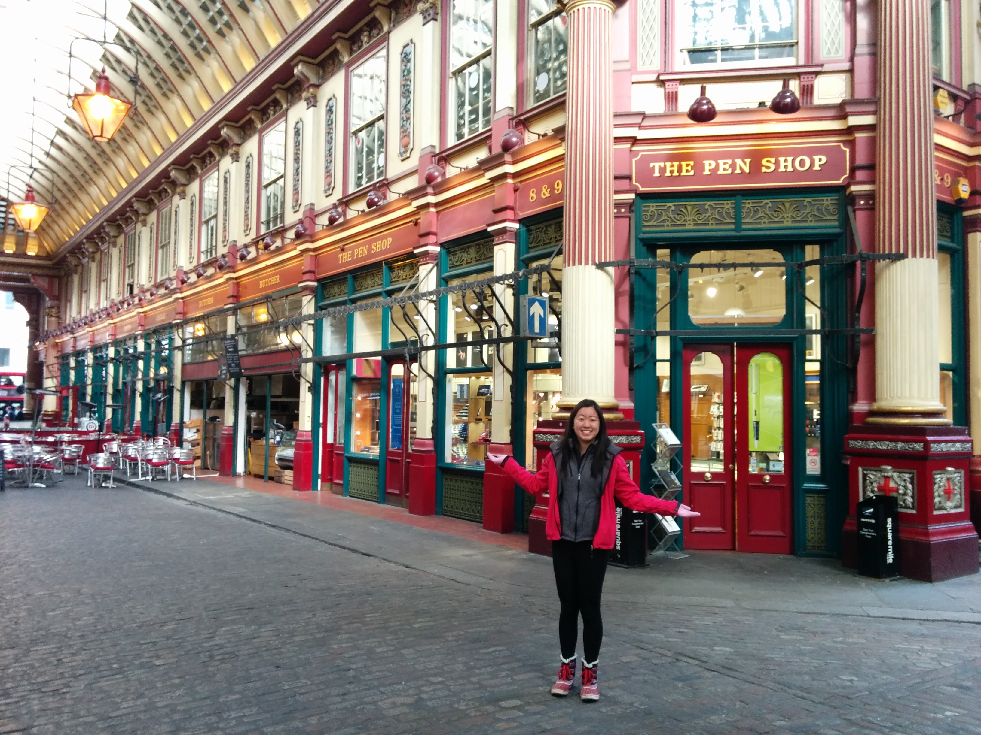 Leadenhall Market, the entrance to Diagon Alley