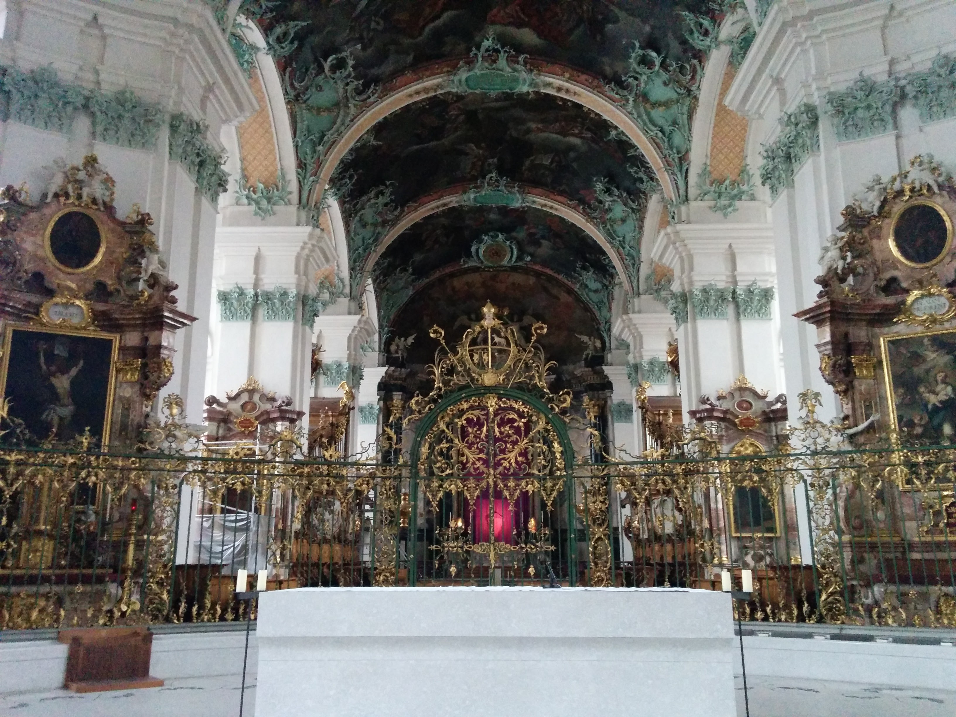 Inside of the Abbey of St. Gall