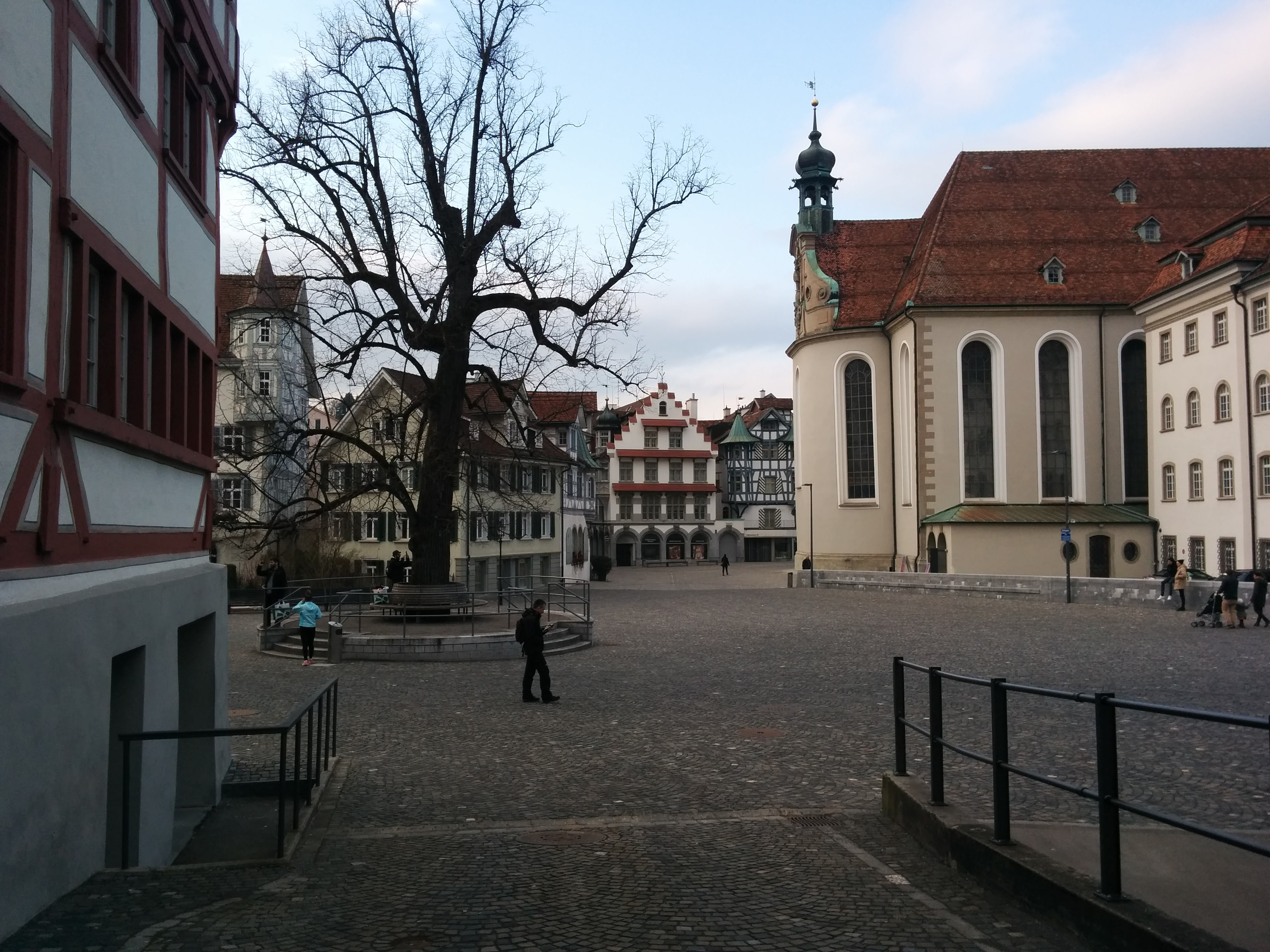 A quaint village square in St. Gallen