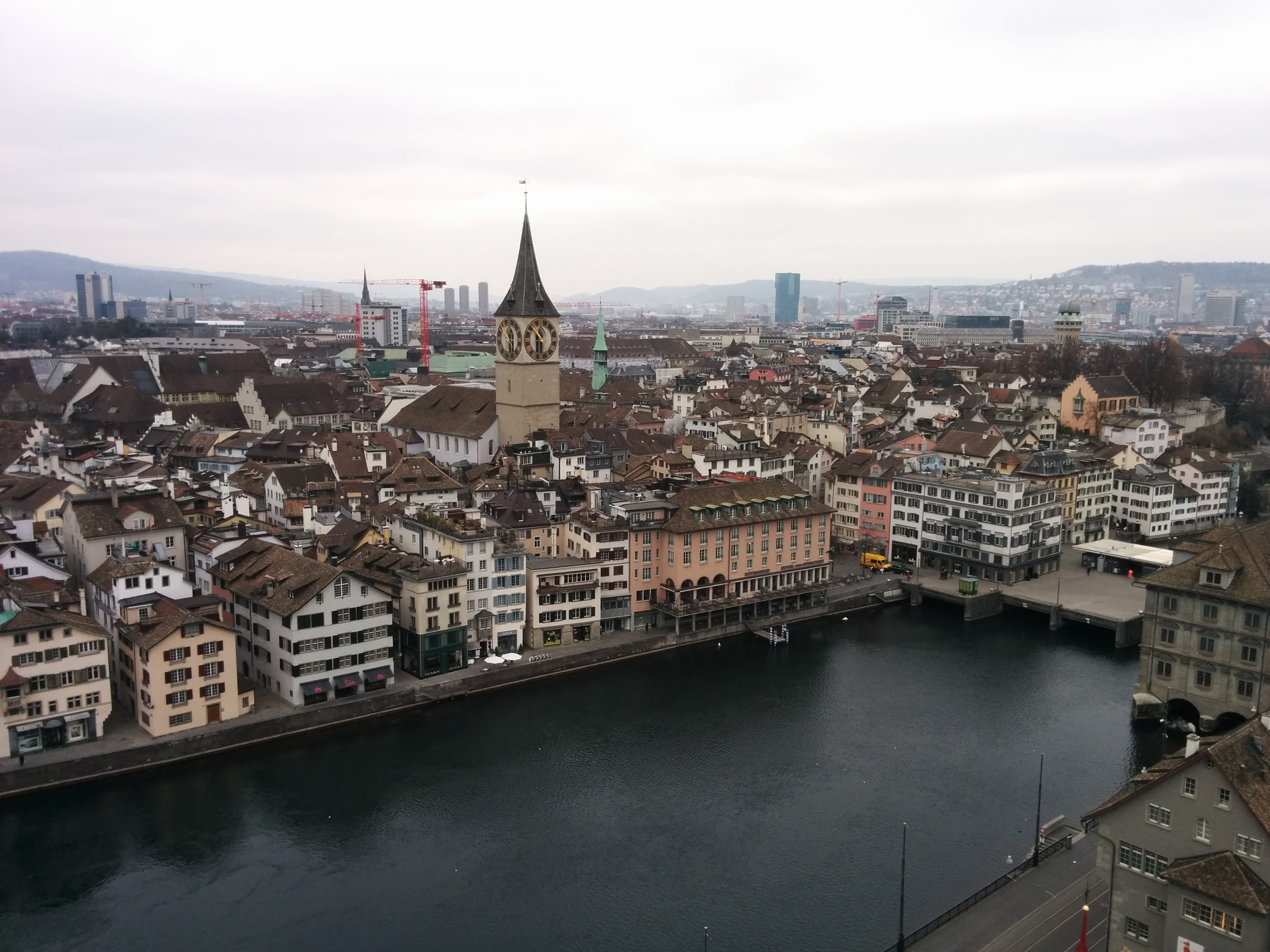 View from atop Grossmünster
