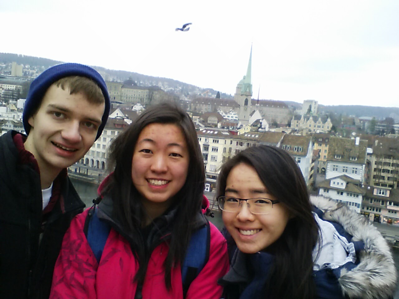 Harrison, Mei Lin, and I atop Lindenhof