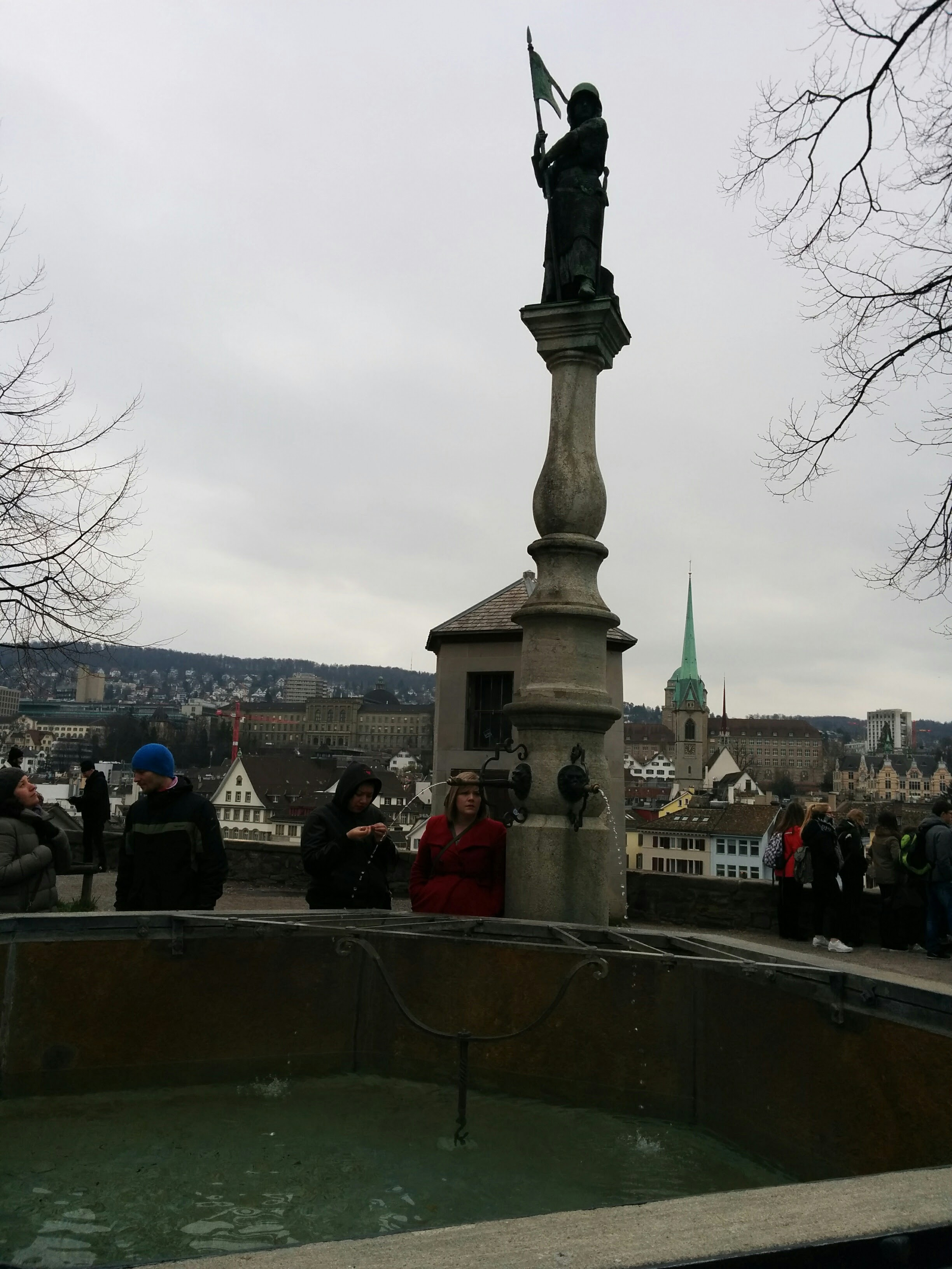 Fountain atop Lindenhof
