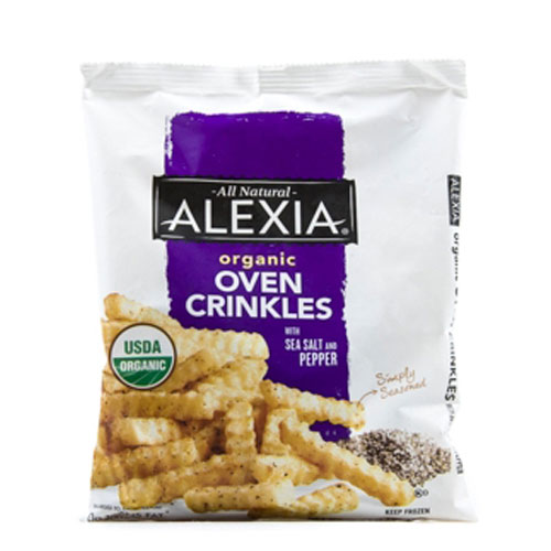 ALEXIA ORGANIC FRIES OVEN CRINKLES WITH SALT PEPPER