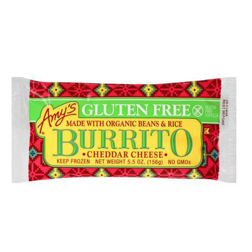 AMY'S BURRITO CHEDDAR CHEESE 5.5oz