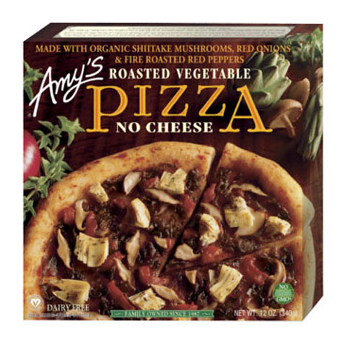 AMY'S PIZZA ROASTED VEGGIE NO CHEESE 12oz