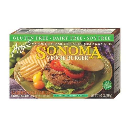 AMY'S SONOMA VEGGIE BURGER 10oz