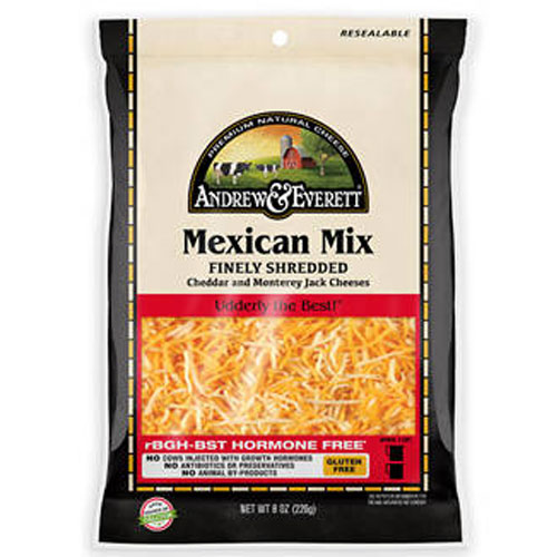 ANDREW & EVERETT SHREDDED MEXICAN MIX 8oz