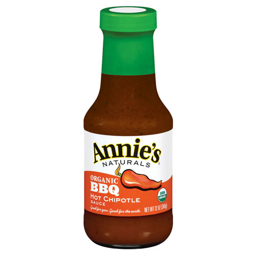ANNIE'S ORGANIC BBQ SAUCE HOT CHIPOTLE 12oz