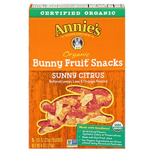 ANNIE'S ORGANIC FRUIT SNACKS CITRUS 4oz
