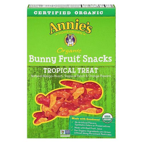 ANNIE'S ORGANIC FRUIT SNACKS TROPICAL 4oz