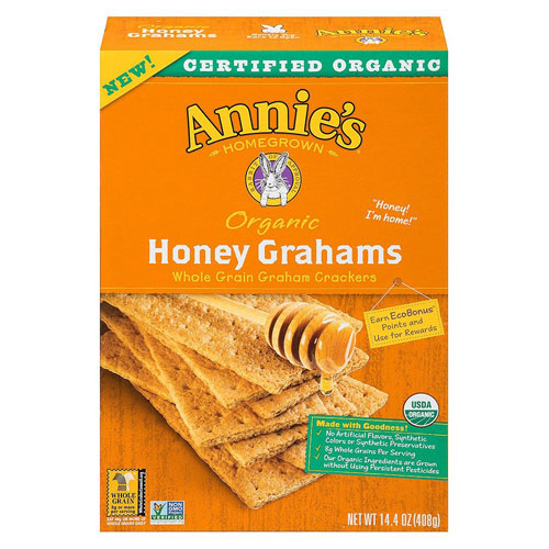 ANNIE'S ORGANIC HONEY GRAHAMS 14.4oz