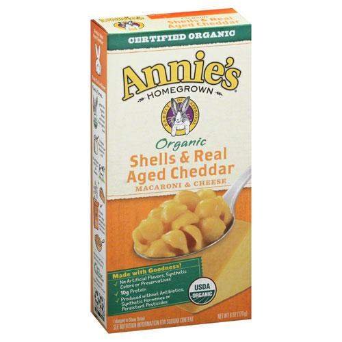 ANNIE'S ORGANIC SHELLS & CHEDDAR 6oz
