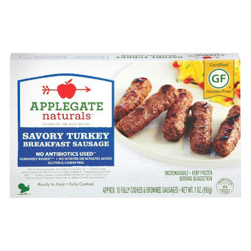 APPLEGATE BREAKFAST SAUSAGE SAVORY TURKEY 7oz