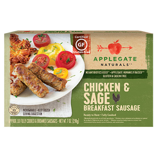APPLEGATE GLUTEN FREE BREAKFAST SAUSAGE CHICKEN & SAGE 7oz