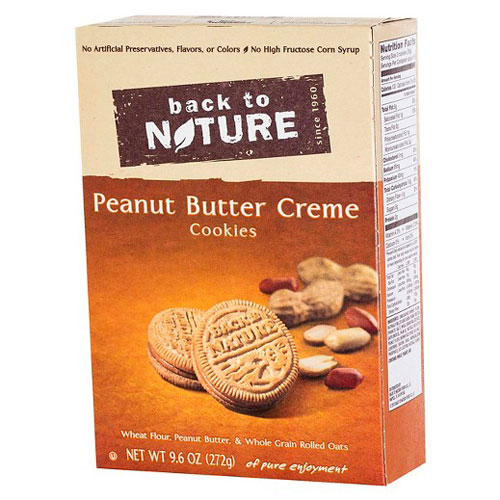 BACK TO NATURE COOKIES PEANUT BUTTER CREME 9.6oz