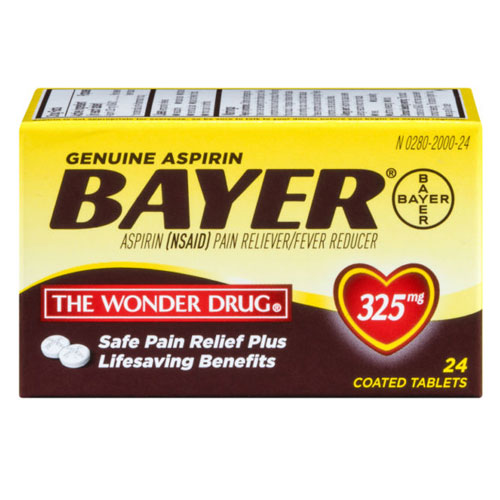 BAYER ASPIRIN PAIN RELIEVER 24tablets