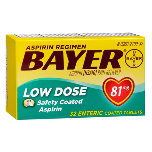 BAYER ASPIRIN PAIN RELIEVER LOW DOSE 32tablets
