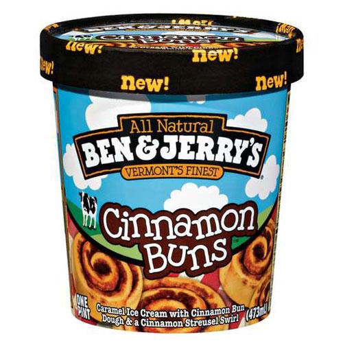 BEN JERRYS ICE CREAM CINNAMON BUNS 1pt