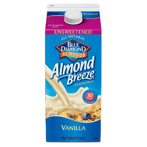 BLUE DIAMOND NON-DAIRY ALMOND MILK VANILLA UNSWEETENED 64oz
