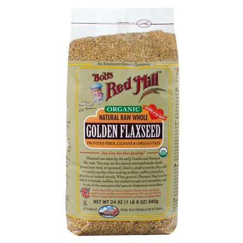 BOB'S MILL ORGANIC GOLDEN FLAXSEED RAW WHOLE 24oz