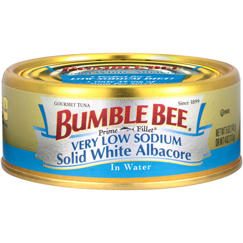 BUMBLE BEE LIGHT SODIUM SOLID WHITE ALBACORE WATER 5oz