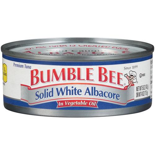 BUMBLE BEE SOLID WHITE TUNA IN OIL 5oz