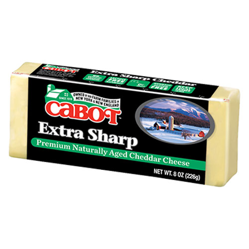 CABOT CHEESE BLOCK NY EXTRA SHARP CHEDDAR CHEESE WHITE 8oz