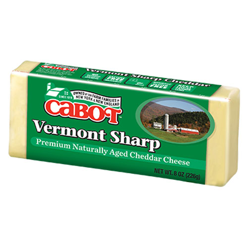 CABOT CHEESE BLOCK VERMONT SHARP WHITE 8oz