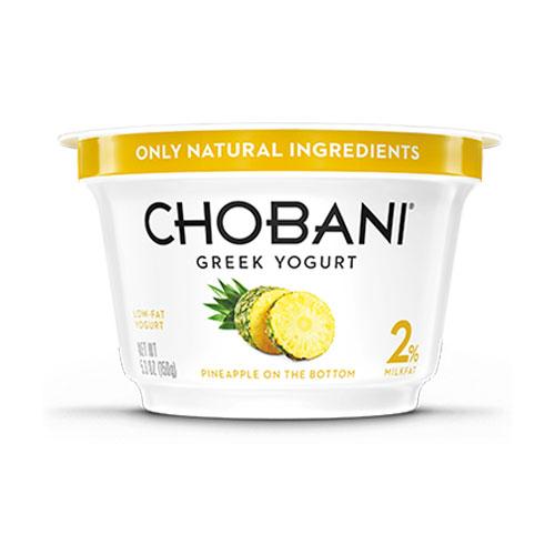 CHOBANI GREEK YOGURT LOW FAT 2% PINEAPPLE 6oz